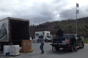 Sustainable Woodstock's e-recycling and shred event in 2016 collected over six tons of waste.